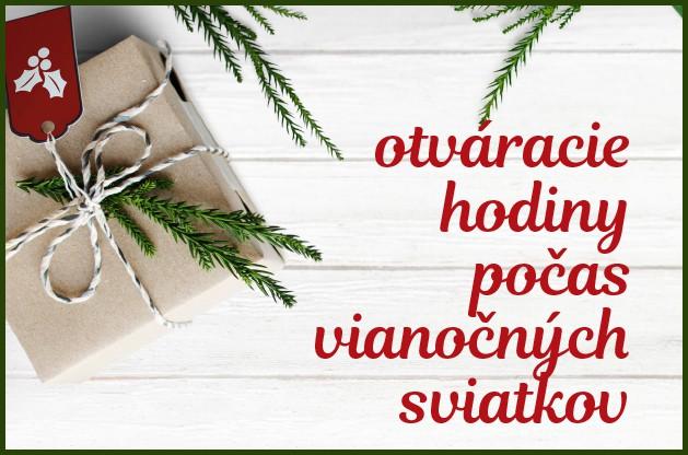 Otváracie hodiny počas vianočných sviatkov 2018