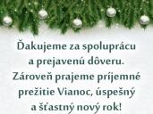 Veselé Vianoce a šťastný nový rok 2019!